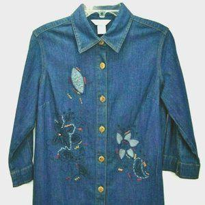 Napa Valley Womens Top SP Blue Denim Cotton Blend
